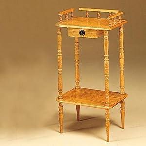 Coaster Phone Stand / Side Table, Oak Wood Finish