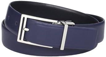 (暴跌)CK主标Calvin Klein Men's 32mm Reversible全真皮双面穿休闲皮带蓝/黑$27.48