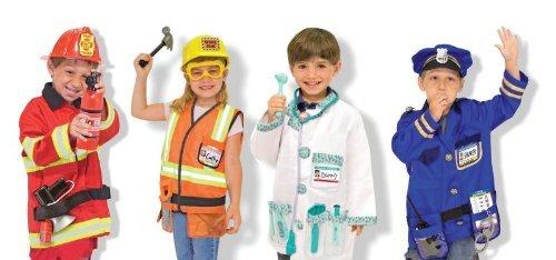 Melissa And Doug Role Play Community Worker Costumes With Accessories, Set Of 4 front-371529