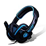 Stereo Gaming Headphone Headset with Microphone (Blue)