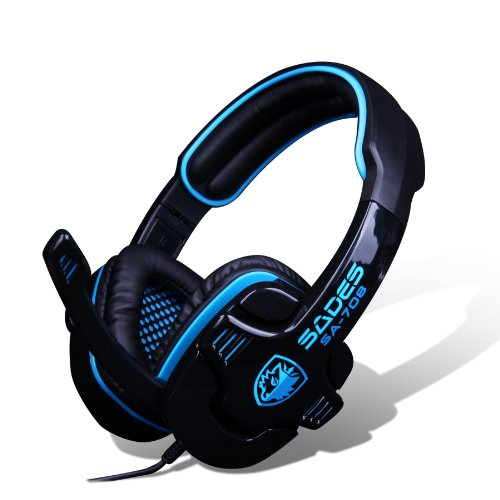 Get Stereo Gaming Headphone Headset with Microphone (Blue)