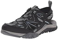 Merrell Women s Capra Rapid Sieve Water Shoe Black 10 B(M) US