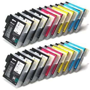 20x COMPATIBLE INK CARTRIDGES (4 SETS PLUS 4 EXTRA BLACK) FOR BROTHER LC985 LC39 for Brother MFC-J220 / MFC-J265W / MFC-J410 / DCP-J125 / DCP-J315W / DCP-J415W / DCP-J515W / 8x BLACK + 4x CYAN + 4x MAGENTA + 4x YELLOW Delcomcomputers Wantmoreink (©)
