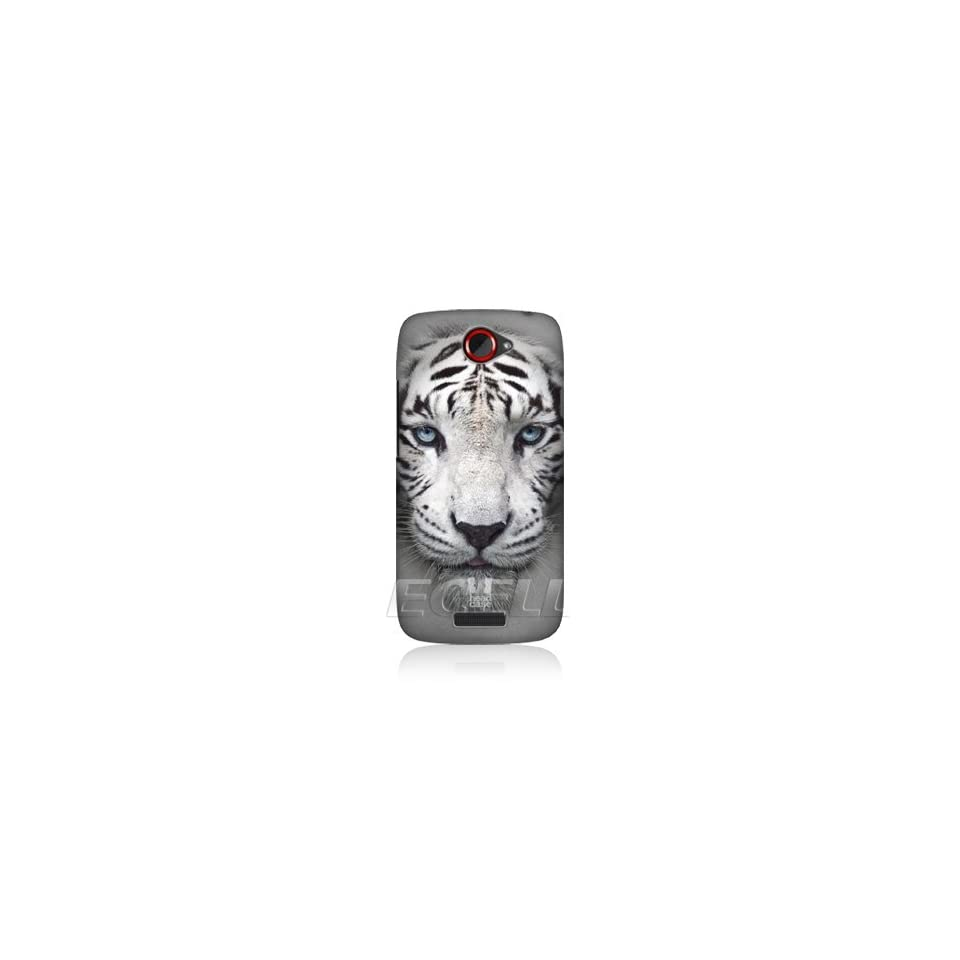 Ecell   HEAD CASE DESIGNS WHITE TIGER BIG FACE ANIMALS SNAP ON BACK CASE FOR HTC ONE S
