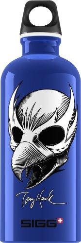 Sigg Tony Hawk Birdman Water Bottle, 0.6-Liter, Blue front-275833