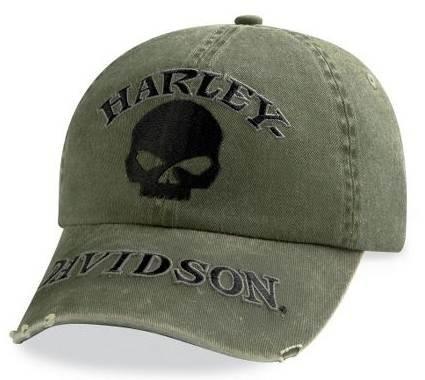 10d10bfb51e Harley-Davidson® Men s Washed Skull Baseball Cap Hat. Embroidered Graphics.  Adjustable. 99504-11VM Review