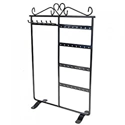 Imported Earring Necklace Jewelry Display Rack Stand Holder Organizer Black