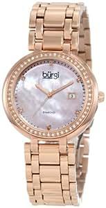 Burgi Women's BU55RG Rose Gold-Tone Stainless Steel Watch