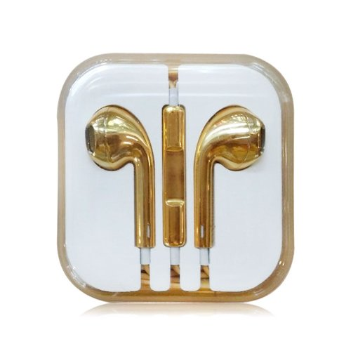 Humanhairwig One Pc Luxury Headset Headphones Earphones Volume Remote+Mic For Iphone4 5 Ipad3 4 Ipod Whd649 (5 Gold)