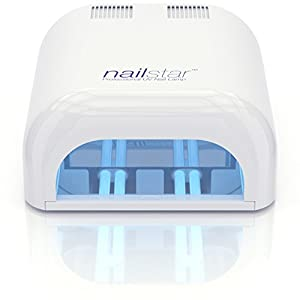 NailStar™ 36 Watt Professional UV Shellac Gel Nail Lamp Dryer with 120 and 180 Second Timers + 4 x 9W Bulbs Included