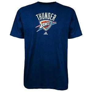 NBA Oklahoma City Thunder Primary Logo T-Shirt, X-Large, Navy