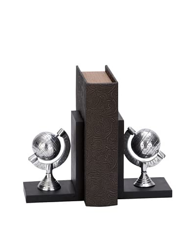 Metal Globe Bookends