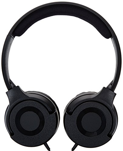 Amazonベーシック 密閉型オンイヤーヘッドホン 両出しコード ブラック HP01