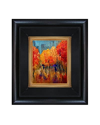 "Justyna Kopania ""Autumn (In The City) II"" Framed Canvas Print"