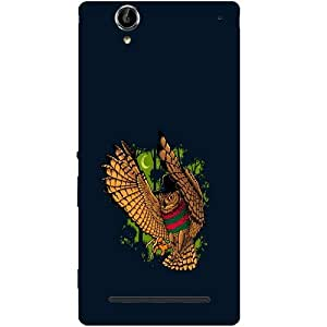 Casotec Owl Sketch Design Hard Back Case Cover for Sony Xperia T2 Ultra