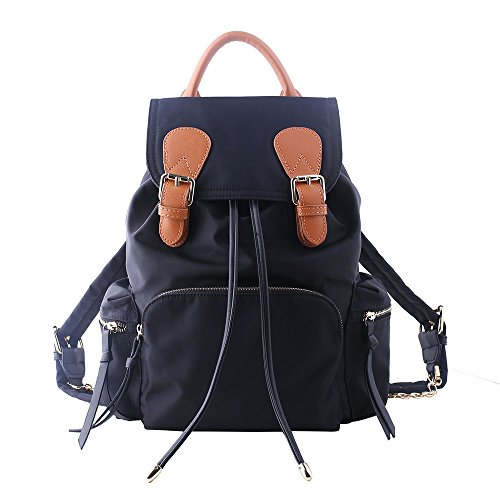 leshiry-stylish-water-resistant-oxford-nylon-fabric-with-real-leather-small-women-backpack