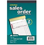 Carbonless 2-Part Sales Order Forms 5 Books / 75 Sets Per Book