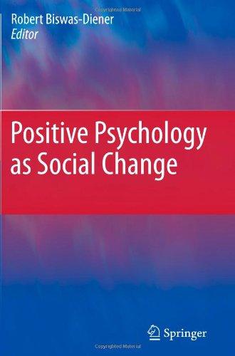 Positive Psychology As Social Change front-746785