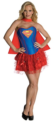 Rubies Womens Dc Comics Supergirl Flirty Corset Halloween Party Fancy Costume