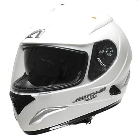Casque moto intégral ASTONE GTB MONOCOLOR - Double écran - Blanc - Taille L