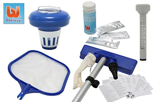 Pool Reinigungs Set BESTWAY 7-teilig Wassertest Dosierer Bod