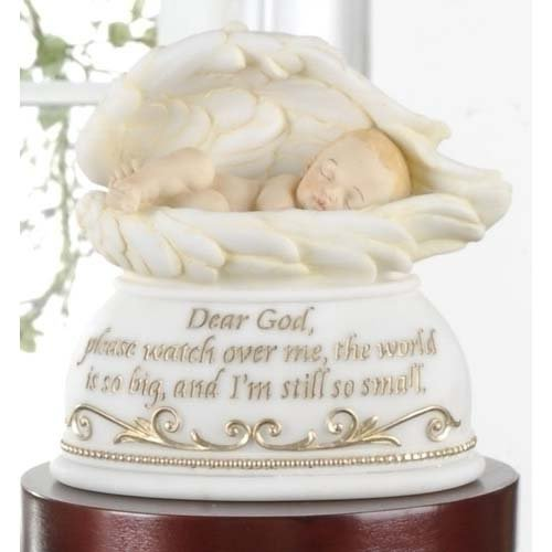 Joseph's Studio Dear God Watch Over Me Baby In Angel Wings Night Light Nightlite 6""
