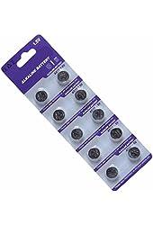 AOR Power 1.5 Volt Alkaline AG10/LR1130 Button Battery, 10 Pack