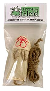 From The Field FFT105 Shelby The Long Tail Hemp Mouse Catnip Toy