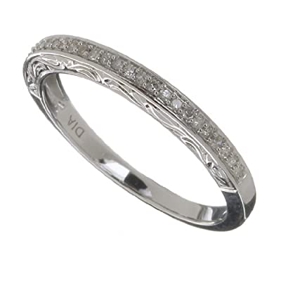 Ariel Ladies 9ct White Gold 10Pts Diamond Eternity Ring