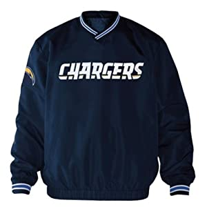 San Diego Chargers NFL Mens Match-Up Wordmark Pullover Embroidered Jacket Navy by G-III Sports