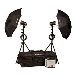 Norman D24-2 Kit, 2400ws Basic Kit with D24 Power Supply, IL2500 Lamp Heads, 5DL Reflectors, Light Stands, Umbrellas and Wheeled Case