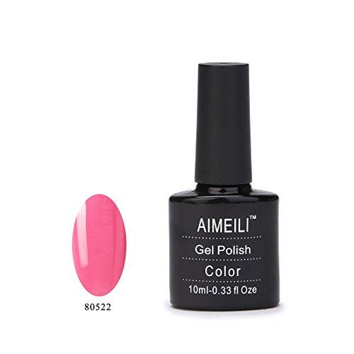 Aimeili Soak Off Uv Led Gel Nail Polish - Pertty Pretty In Pink 80522 10Ml