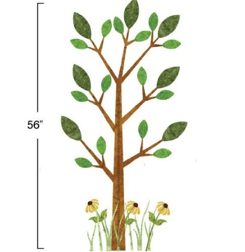 My Wonderful Walls Peel and Stick Tree Growth Chart Forest Theme Wall Sticker, Brown/Green/Yellow