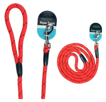 Walk-Time-Rope-Twist-Lead-64inch-RedBlack
