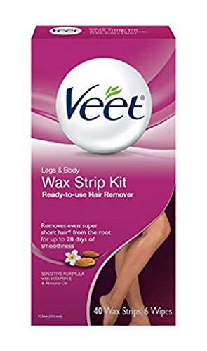 Veet Ready To Use Wax Strip Kit 40's (Legs And Body) (3 Pack)