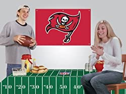 Tampa Bay Buccaneers Game/Tailgate Party Kits Banner &amp; Tablecloth NFL Football Fan Shop Sports Team Merchandise