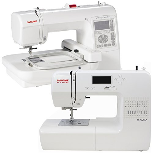 Janome memory craft 200e dc1018 combo package with free for Janome memory craft 200e embroidery machine reviews