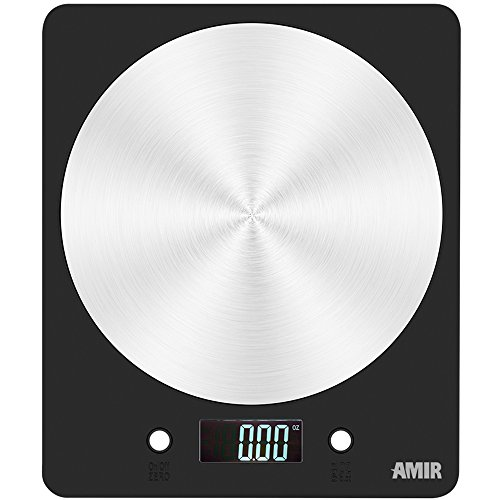 Digital Kitchen Scale, Amir® Electronic Cooking Food Scale with LCD Display, Accurate Gram and Slim Design