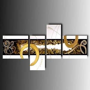 Art mmb ambra 4 quadri moderni astratti colore bianco for Amazon quadri moderni astratti