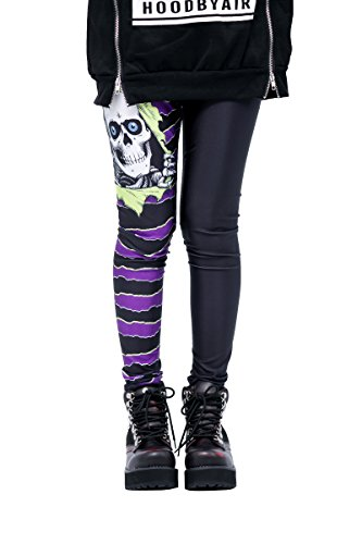 American Punk Rock Halloween Horror Comic Undead Legion Striped Tights