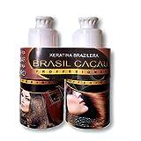 Keratina brasilera Brasil Cacau tratamiento de alizado para el cabello efecto 4D kit 2 pasos (shampoo+ tratamiento) (100ml)