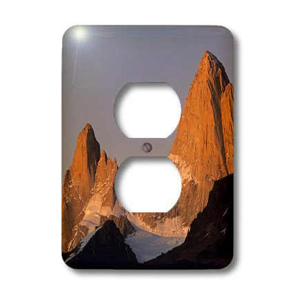 Lsp_85252_6 Danita Delimont - Mountains - Mount Fitzroy, Patagonia Mountains, Argentina - Sa01 Jgi0004 - Jerry Ginsberg - Light Switch Covers - 2 Plug Outlet Cover