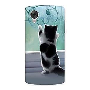 Cute Cute Kitty Face Print Back Case Cover for Google Nexsus 5