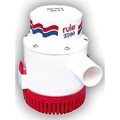 Buy Rule 16A Marine Rule 3700 Marine Bilge Pump (3700-GPH, 24-Volt) by Rule