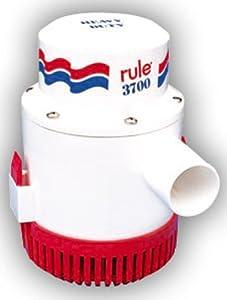 Buy Rule 14A Marine Rule 3700 Marine Bilge Pump (3700-GPH, 12-Volt) by Rule
