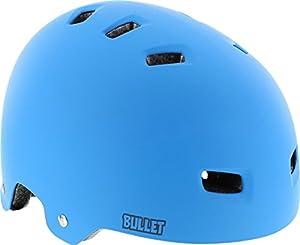 Bullet Deluxe Matte Blue Large / X-Large Skateboard Helmet - CE/CPSC Certified