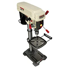 Enjoy the accuracy of a drill press without taking up all of the space with this drill press from JET. It has the power to cut any hole you need with a 1/3-horsepower motor, 110 volts, a 530-3,100 rpm, a 3.15 vertical stroke, 360-degree head swivel, ...
