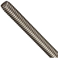 Fully Threaded Rod, Titanium, Uncoated (Bright) Finish, Inch, Right Hand