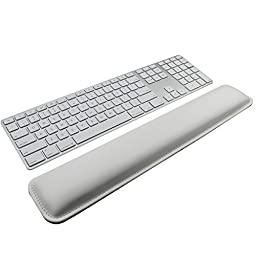 Wrist Rests,Keyboard Wrist Rest Pad,White PU Leather Palm Support Wrist Pad Wrist Cushion for Laptops/ Notebooks/ MacBooks//PC/Computer