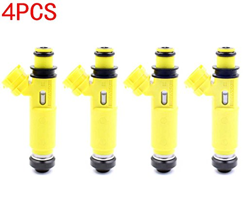GooDeal 4pcs Yellow Fuel Injectors 195500-4450 for Mazda 04-08 RX-8 (Mazda Rx8 Fuel Injectors compare prices)